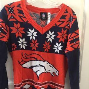 NFL Team Apparel Women's Denver Broncos Sweater